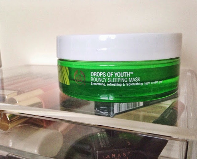 The Body Shop Bouncy Sleeping mask, Sleeping masks, The body shop mask, skincare for oily skin, skincare for dehydrated skin