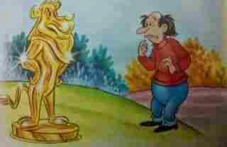 El avaro y el león de oro fabulas cortas