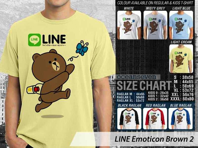 KAOS IT LINE Emoticon Brown 2 Social Media Chating distro ocean seven