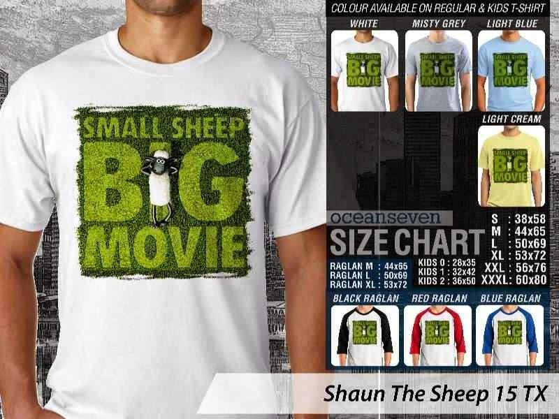 Kaos Movie Shaun The Sheep 15 distro ocean seven