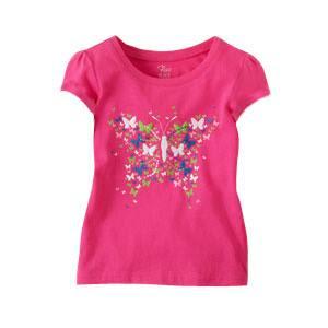Áo thun Place bé gái 6/9M-4T hàng xuất xịn made in vietnam, hồng bướm.