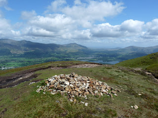 One of the cairns on Causey Pike ridge.
