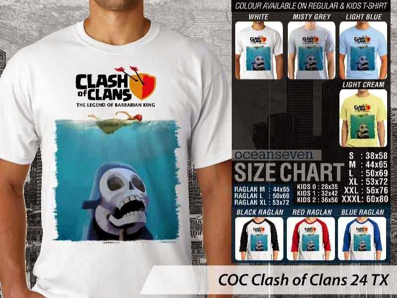 Kaos COC Clash of Clans 24 distro ocean seven