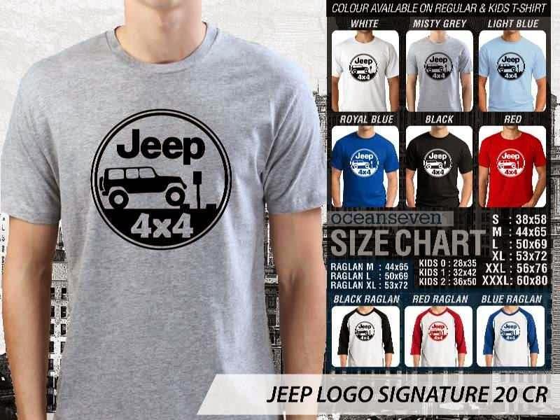 jual kaos jeep Logo Signature 20 4 X 4 distro