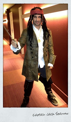 Тимо Глок в костюме Джека Воробья из пиратов Карибского моря