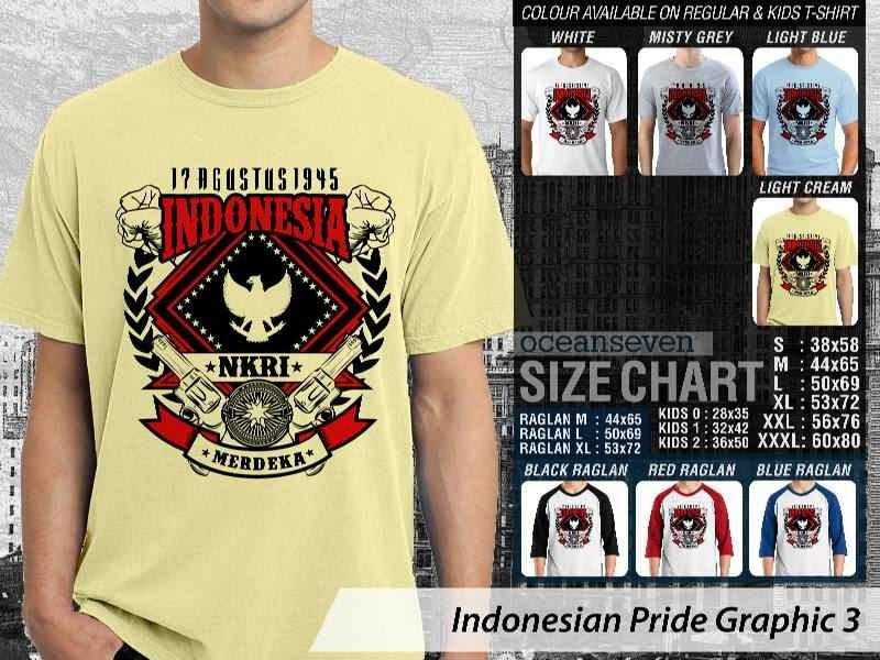 KAOS 17 Agustus 1945 Indonesia NKRI Merdeka Indonesian Pride Graphic 3 distro ocean seven
