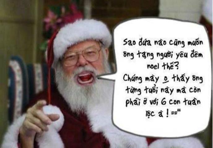 Ảnh vui câu nói bá đạo của ông già Noel