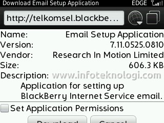 Download BlackBerry Email Setup Application