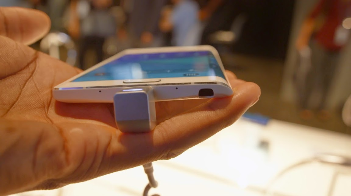 Samsung Galaxy Note Edge side view