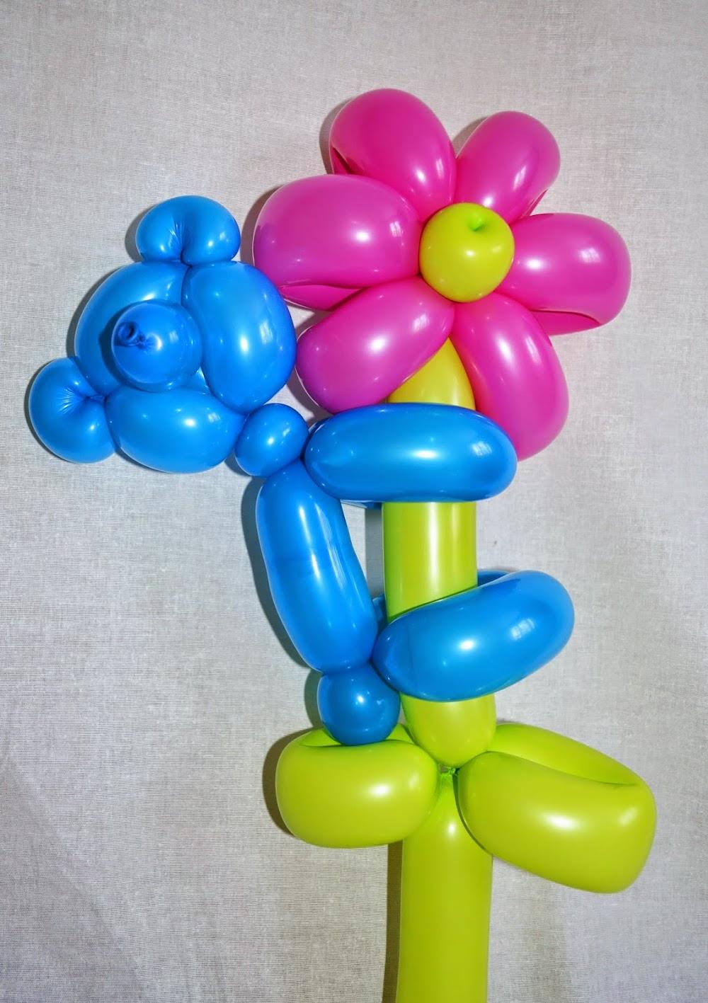 Цветок с длинным шариком фото