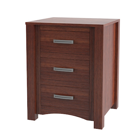 Matching Furniture Piece: Dakota Nightstand with Drawers in Sedona Cherry