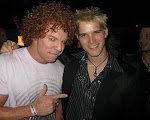 I actually caught Carrot Top empty handed...not a single prop in the room