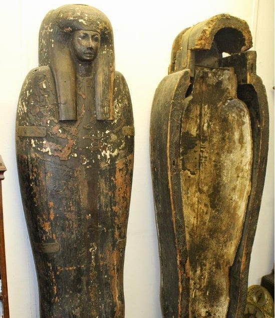 Egyptian sarcophagus found in Essex house