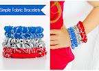 Easy Fabric Bracelets