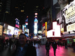 Times Square on a Monday night is kinda empty