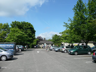 Edale Car Park before the start of the walk