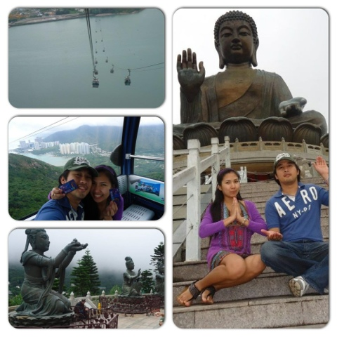 Ed and Lady in Ngong Ping | Do-it-yourself Tour