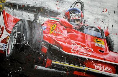 Le Petit Gilles Жиль Вильнев Ferrari 312T4 by Art Rotondo