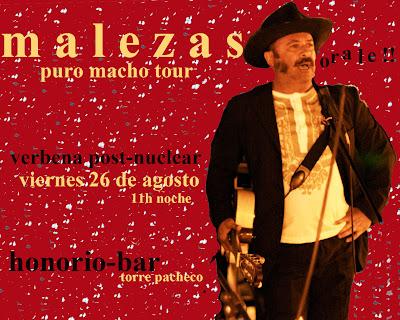 Cartel para la actuación de Malezas en el HOnorio-bar de Torre Pacheco (Murcia). 26 de agosto (2011)