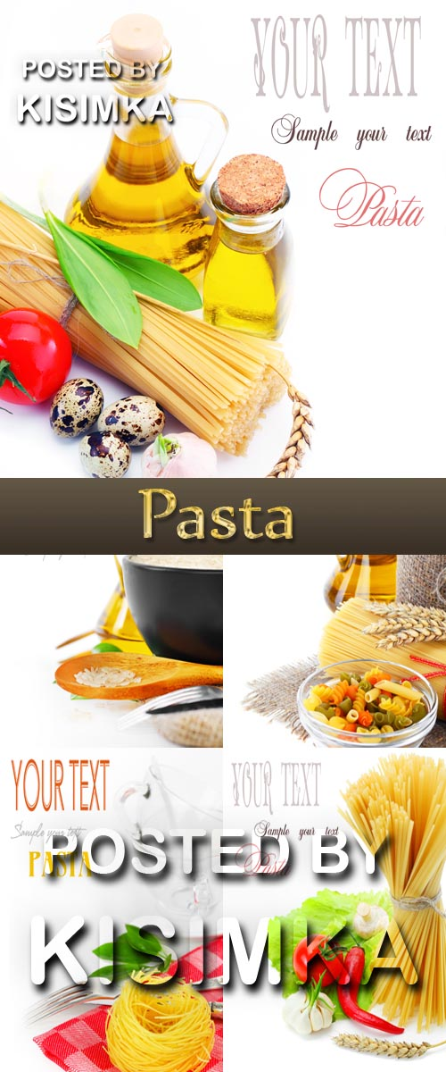 Stock Photo: Pasta cards