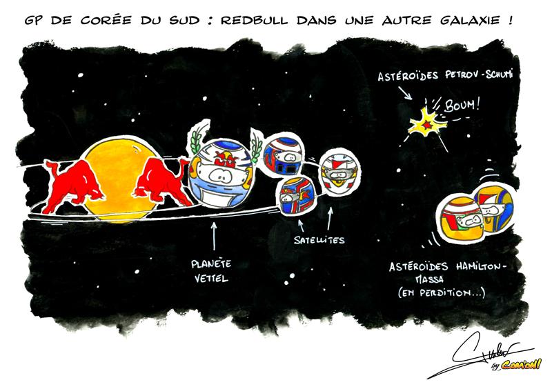 астрономический комикс Quentin Guibert по Гран-при Кореи 2011