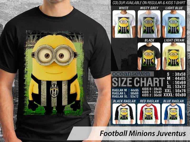 Kaos Bola Juventus Minions Despicable Me distro