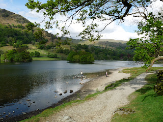 A man fishing in Rydal Water