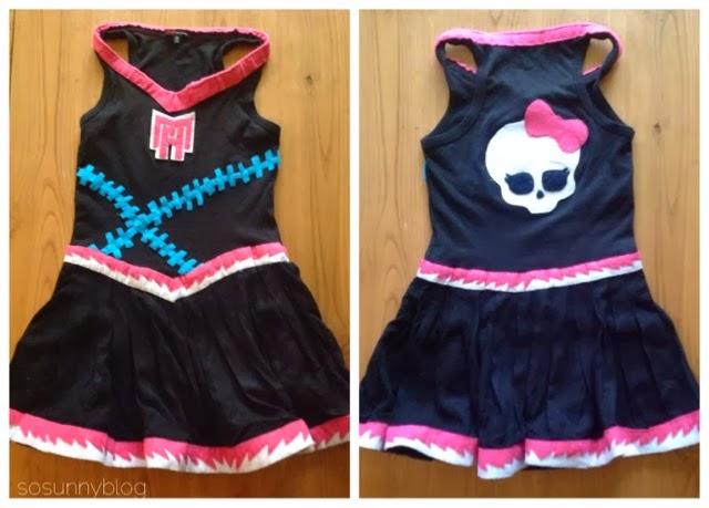 Disfraz Asustadora Monster High. Monster High Cheerleader Costume