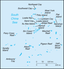 Spratly Islands in South China Sea