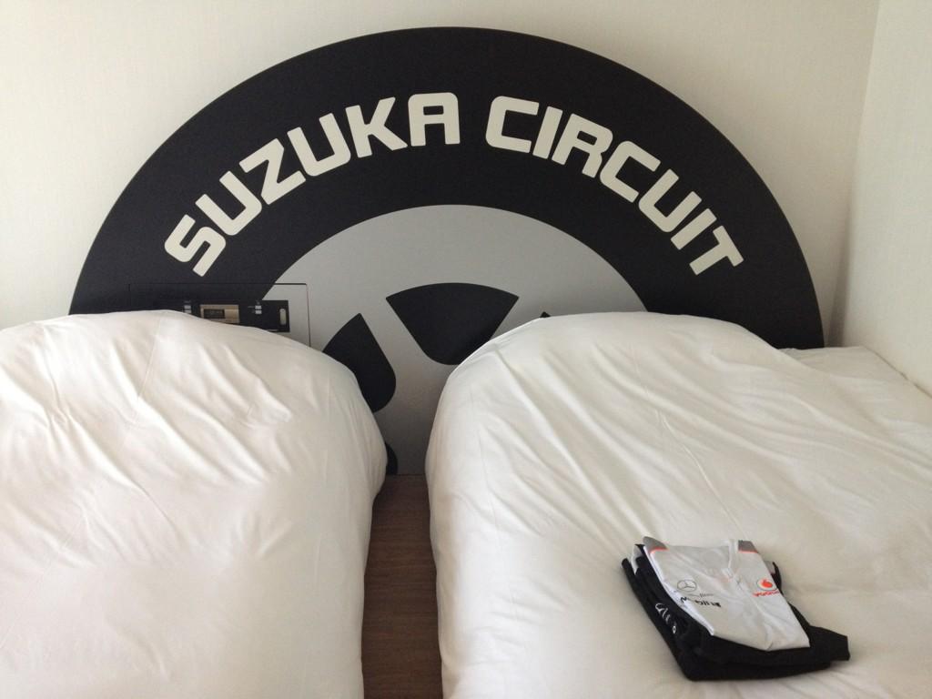 спальня Дженсона Баттона на Гран-при Японии 2012