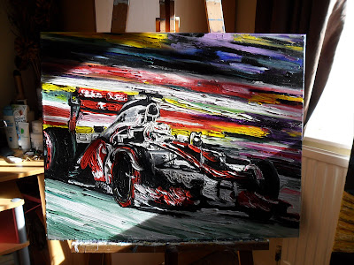 Льюис Хэмилтон McLaren Oils on Canvas by Claire Angela Art