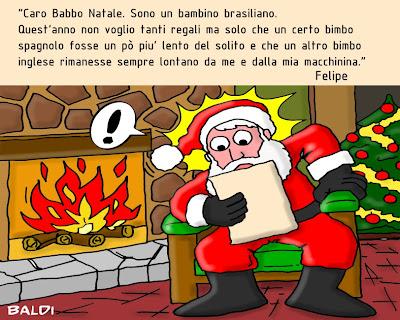 Фелипе Масса пишет письмо Санте - комикс Baldi