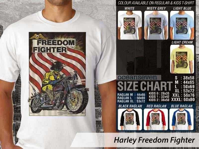 KAOS Harley Davidson 5 Logo Motor distro ocean seven