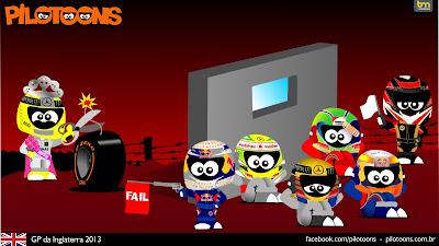 комикс pilotoons по Гран-при Великобритании 2013