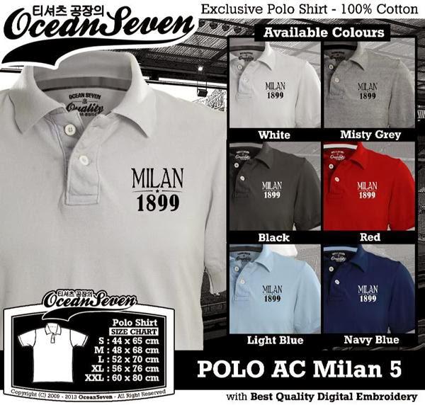 POLO AC Milan 5 Liga Italia distro ocean seven