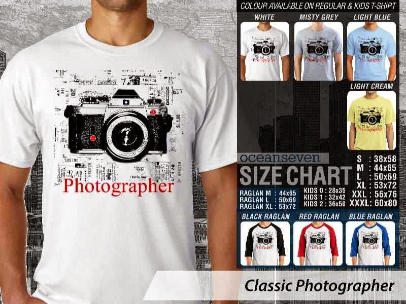 Kaos Photography Mania Classic Photographer distro ocean seven