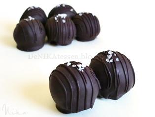 trufas de chocolate y caramelo