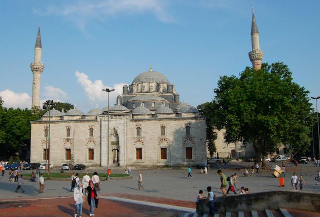 Турция: Площадь в Стамбуле.