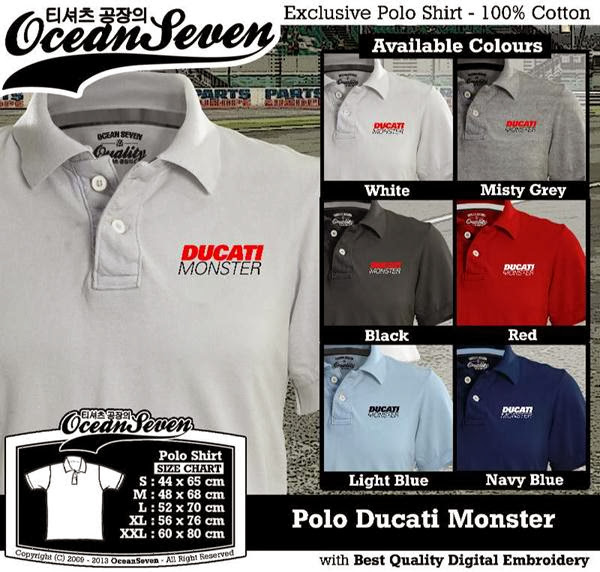 POLO Ducati Monster Logo distro ocean seven