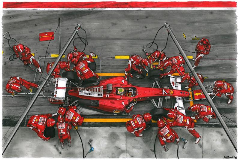 рисунок пит-стопа Ferrari