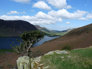 Loweswater in the distance