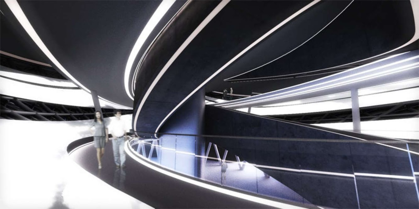 Arc Multimedia Theater by Asymptote Architecture