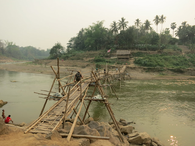 The bamboo toll bridge.