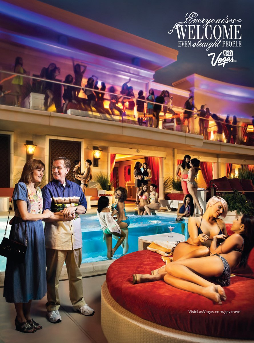 Gay Las Vegas Print Ads Make Straight Couples Look Goofy
