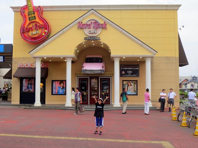 Fukuoka's Hard Rock Cafe, outside the Yahoo Dome