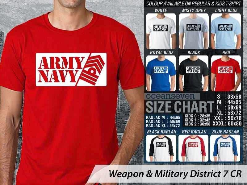 KAOS Militer Army Navy Weapon & Military District 7 distro ocean seven