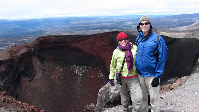 At the rim of Red Crater.