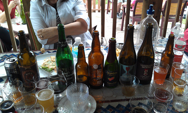 A bit of the carnage: Heady, Bolt Cutter, Horal's Mega Blend, Eclipse EC12, Kuhnhenn's Raspberry Eisbock, Florence, Convival Suarez, and a couple unlabeleds