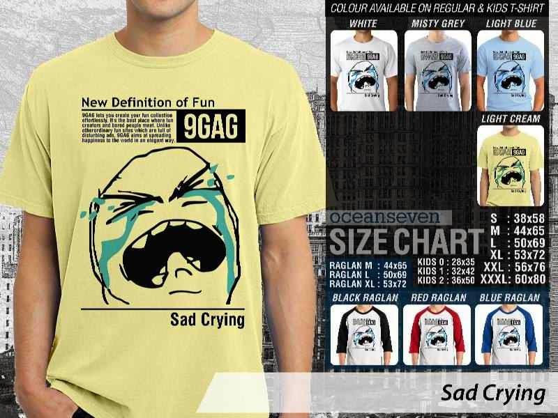 Jual Kaos 9Gag Lucu Meme Sad Crying distro ocean seven