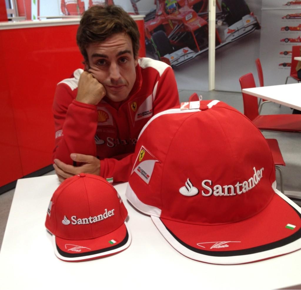 Фернандо Алонсо и две кепки на Гран-при Бельгии 2012